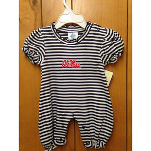 Creative Knitwear Gifts & Apparel Navy / Newborn Creative Knitwear Ole Miss Bubble Romper
