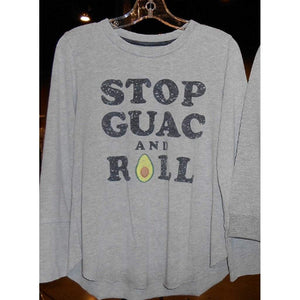 Crumb Snatcher Girls Apparel 7 / Grey Crumb Snatcher Girl's Stop Guac and Roll Graphic T Shirt