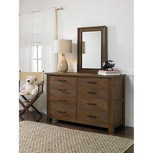 Bivona Furniture Dolce Babi Lucca 8 Drawer Double Dresser Weathered Brown