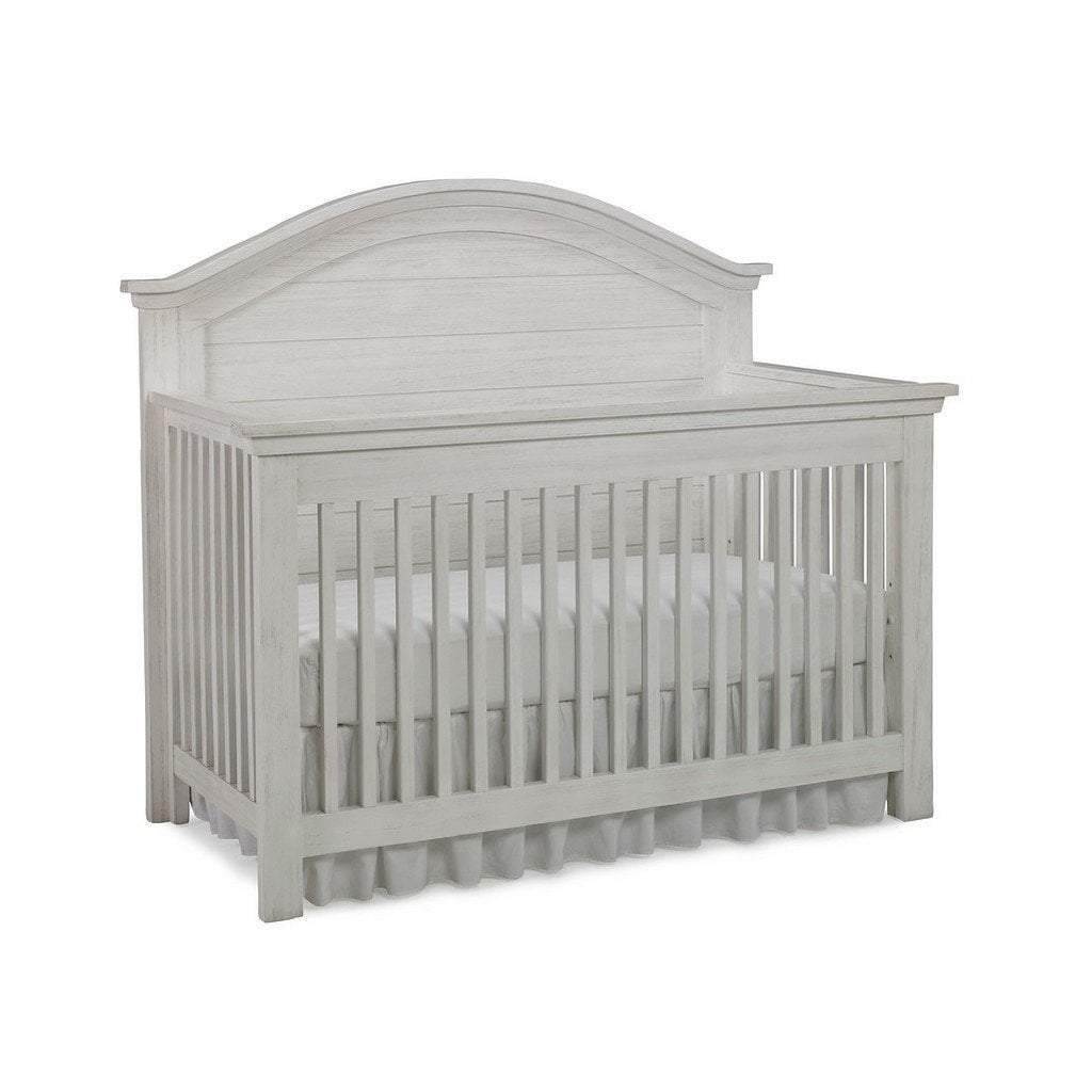 Dolce Babi Lucca Curved 4 In 1 Convertible Crib Seashell White