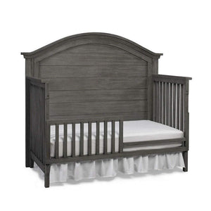 Bivona Furniture Dolce Babi Lucca Curved 4 in 1 Convertible Crib Weathered Grey