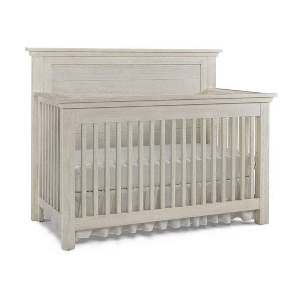 Bivona Furniture Dolce Babi Lucca Flat Top 4 in 1 Convertible Crib Full Panel Seashell White