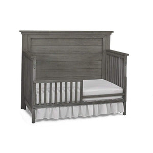 Bivona Furniture Dolce Babi Lucca Flat Top 4 in 1 Convertible Crib Full Panel Weathered Grey