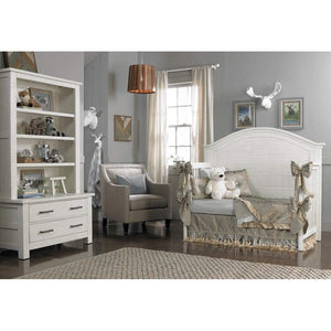 Bivona Furniture Dolce Babi Lucca Hutch/Bookcase Seashell White