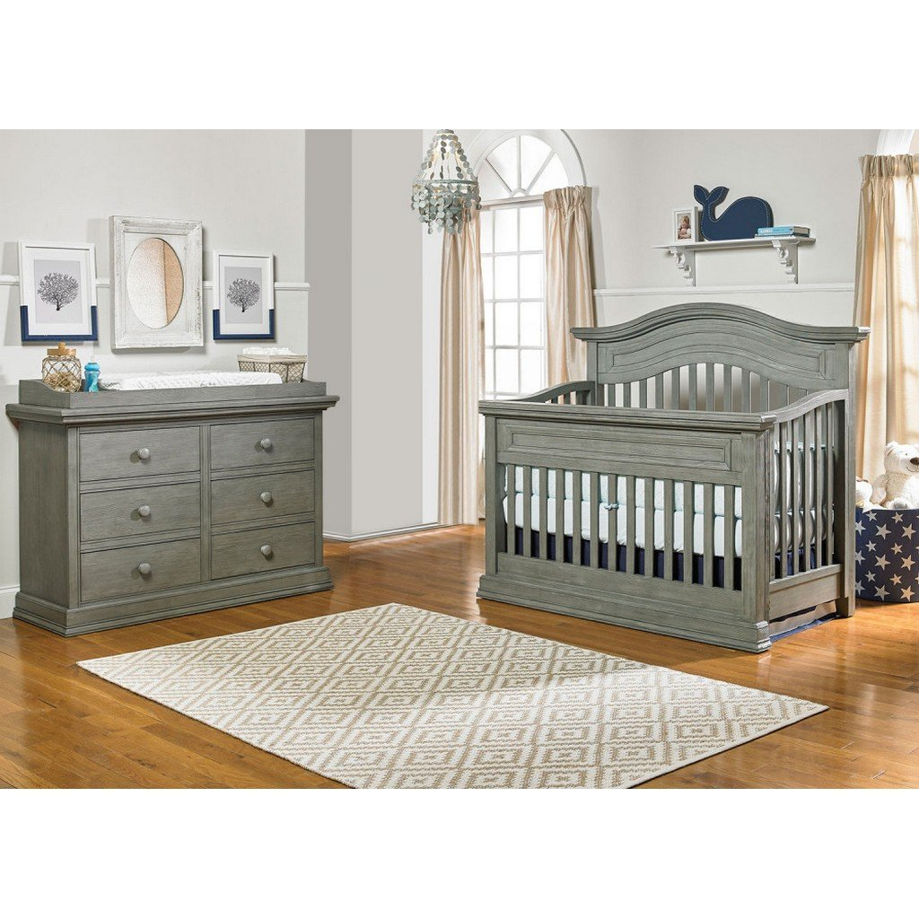 BIVONA Furniture Dolce Babi Marco Crib and Double Dresser Nantucket Grey