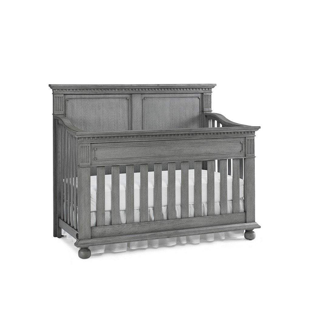 Bivona Furniture Dolce Babi Naples 4 in 1 Convertible Full Panel Crib Nantucket Grey