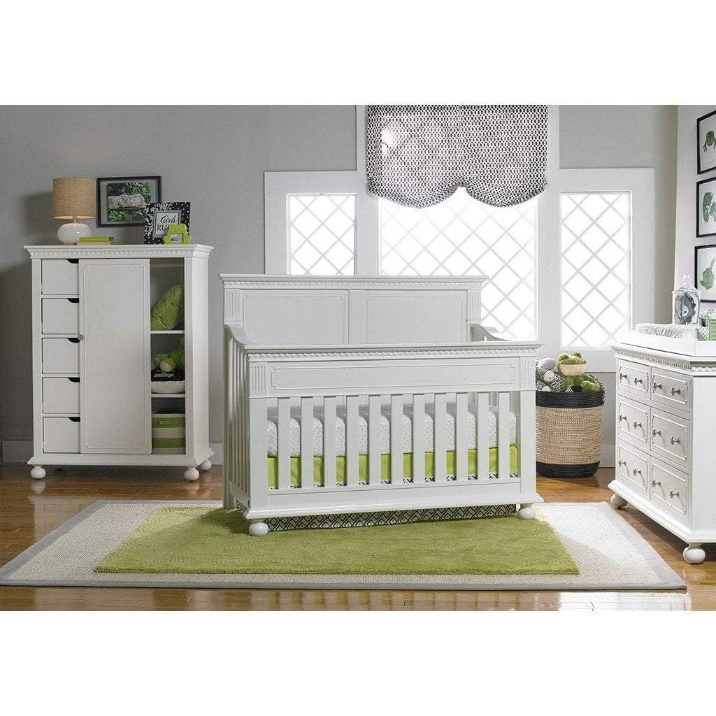 Bivona Furniture Dolce Babi Naples 4 in 1 Convertible Full Panel Crib Snow White