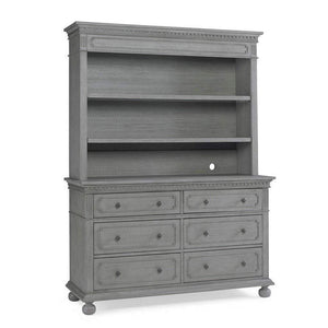 Bivona Furniture Dolce Babi Naples RTA Hutch/Bookcase Nantucket Grey