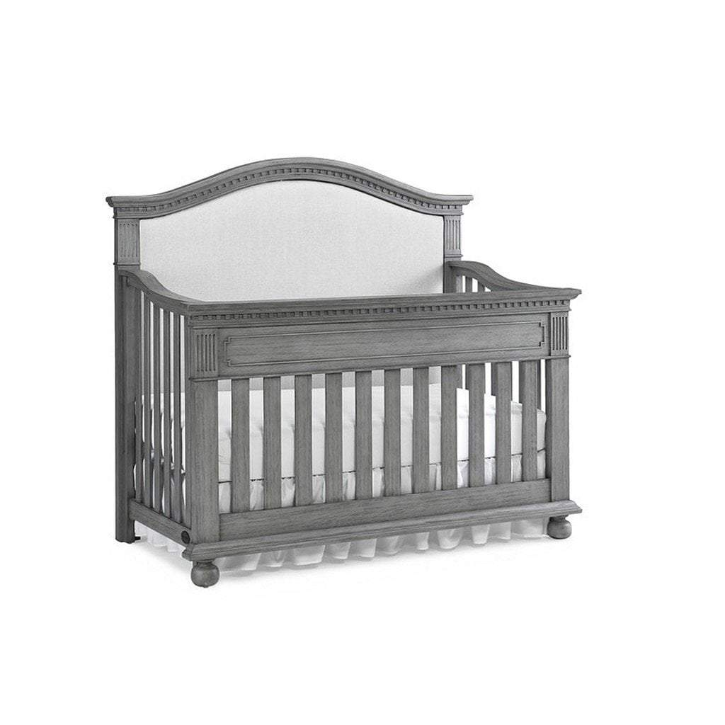 Bivona Furniture Dolce Babi Naples Upholstered Convertible Crib Nantucket Grey