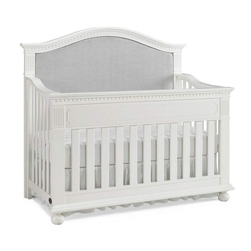 Bivona Furniture Dolce Babi Naples Upholstered Convertible Crib Snow White