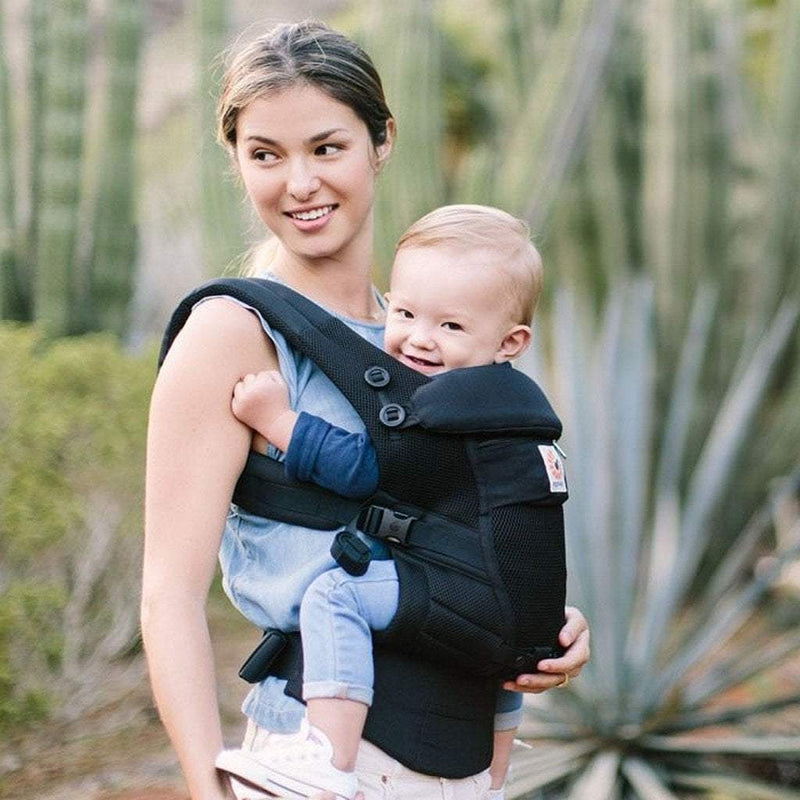 Ergo Baby Adapt Cool Air Mesh Infant Carrier Onyx Black