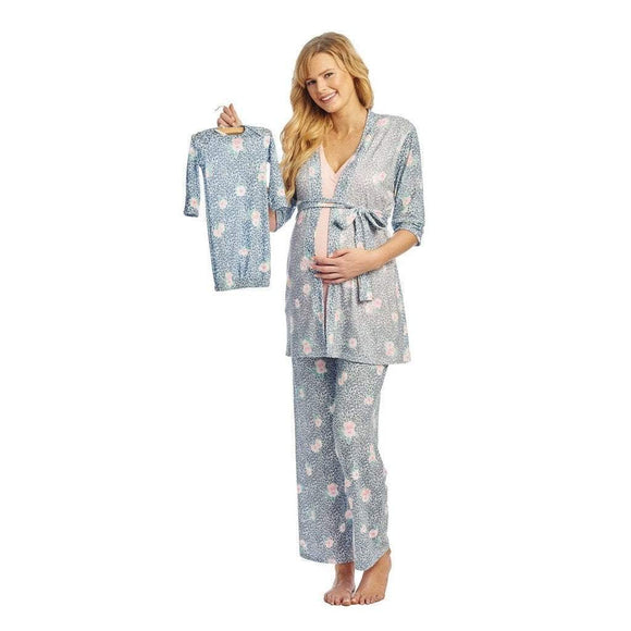 Baby Grey Gifts & Apparel Small / Jungle Floral Everly Grey Analise 5-Piece Maternity Loungewear Jungle Floral