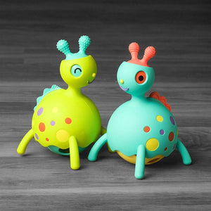 Fat Brain Toy Toys Fat Brain Toy Blue Rollobie Baby Toy
