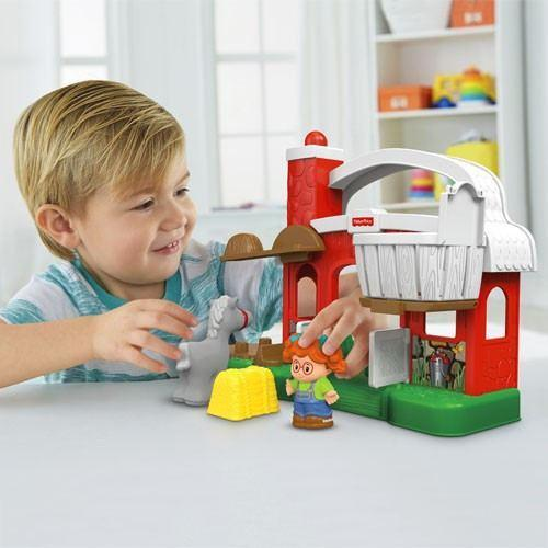 Fisher Price Little People Farm Hay Stackin Stable-Toys-Babysupermarket