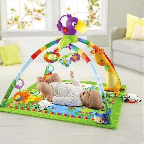 Fisher Price Rainforest Music & Lights Gym-Toys-Babysupermarket