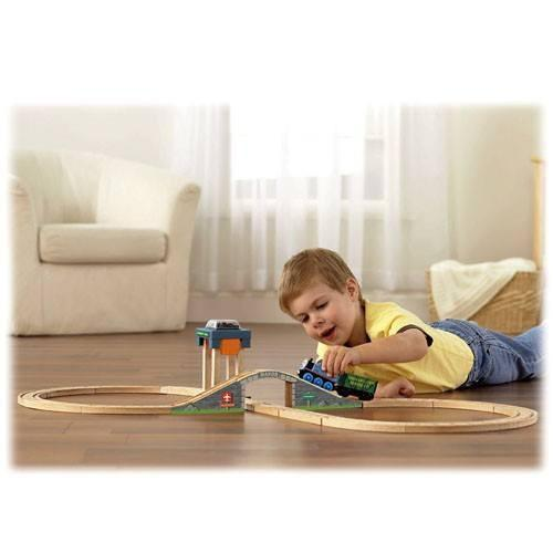 Thomas and Friends Railway Coal Hopper Figure 8 Wooden Train Set-Toys-Babysupermarket