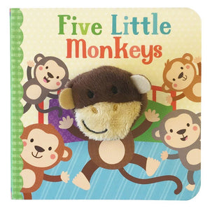 Cottage Door Press Gifts & Apparel Five Little Monkeys Finger Puppet Board Book