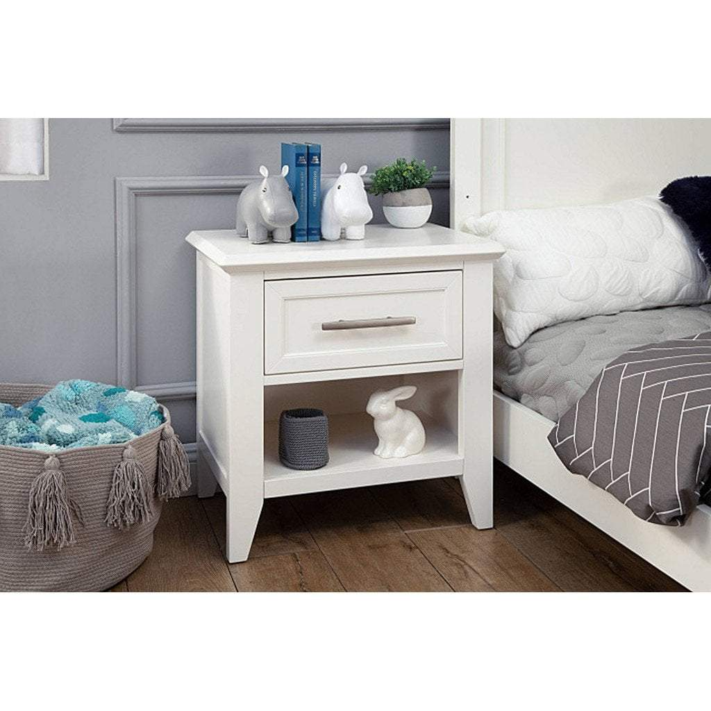 Franklin & Ben Furniture Franklin & Ben Beckett Nightstand Warm White