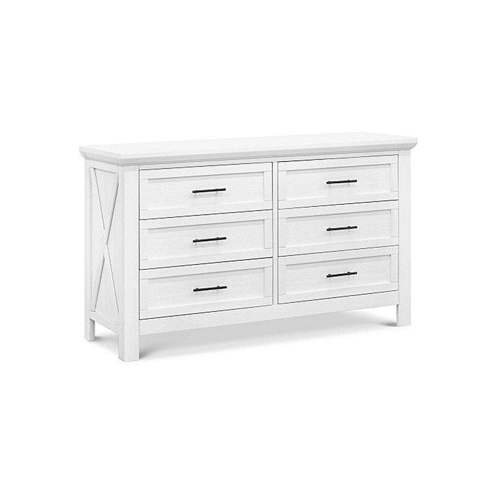 Franklin & Ben Furniture Franklin & Ben Emory 6 Drawer Double Dresser Linen White