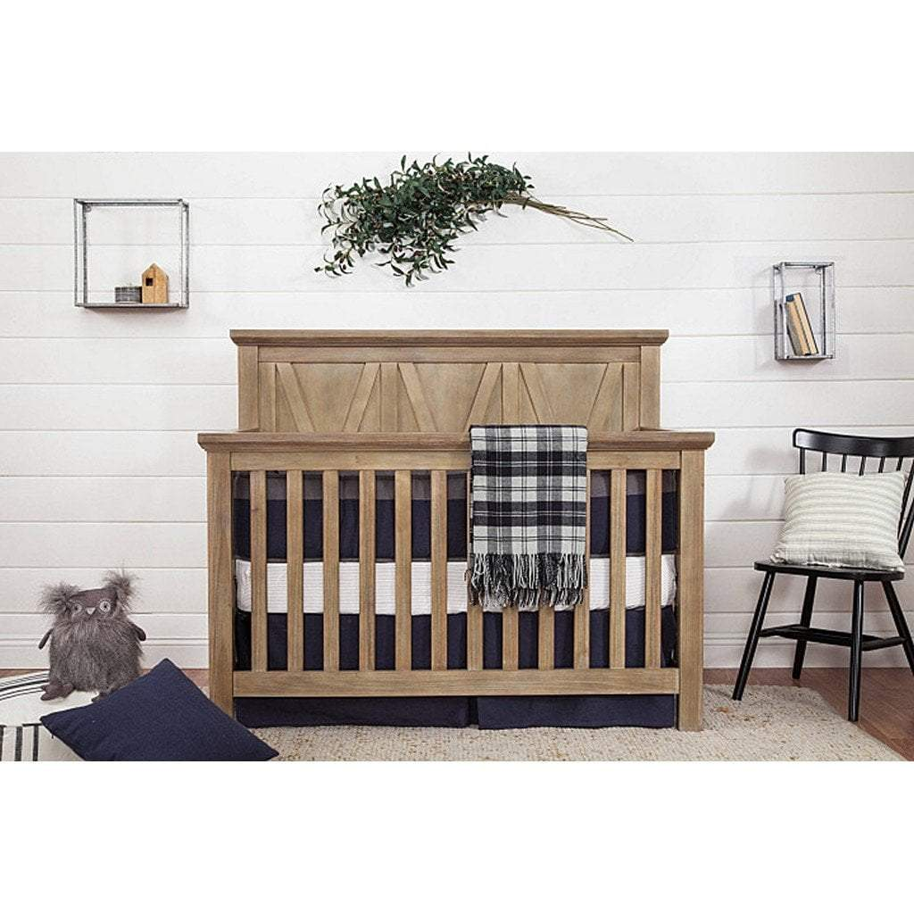 Franklin & Ben Furniture Franklin & Ben Emory Farmhouse 4 in 1 Convertible Crib Driftwood