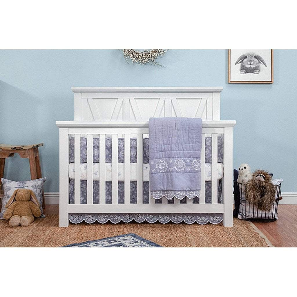 Franklin & Ben Furniture Franklin & Ben Emory Farmhouse 4 in 1 Convertible Crib Linen White