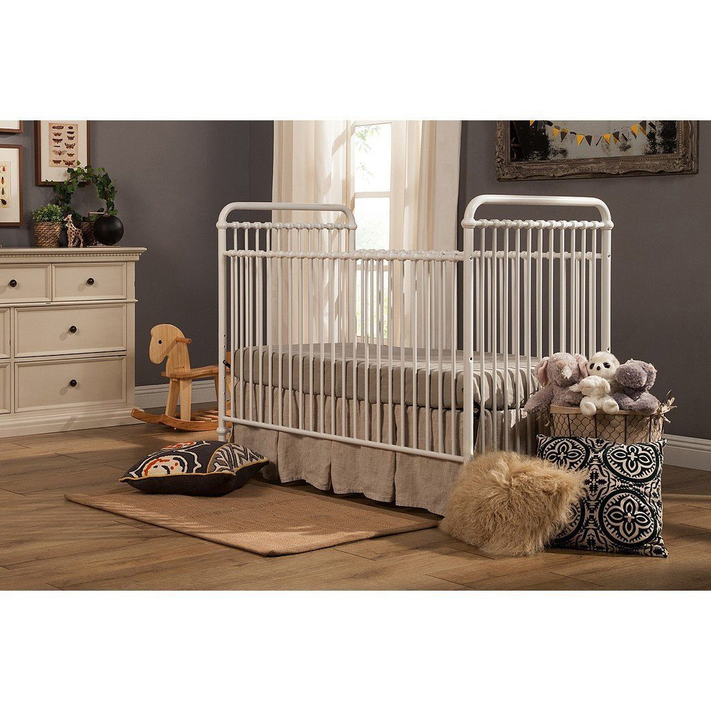 Franklin & Ben Abigail 3 in 1 Convertible Bed Distressed White-Furniture-Babysupermarket
