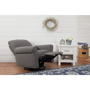 Franklin & Ben Furniture Franklin & Ben Monroe Pillowback Power Recliner Chair Stone Grey Linen