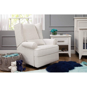 Franklin & Ben Furniture Franklin & Ben Tahoma Wingback Recliner Chair Oatmeal Linen