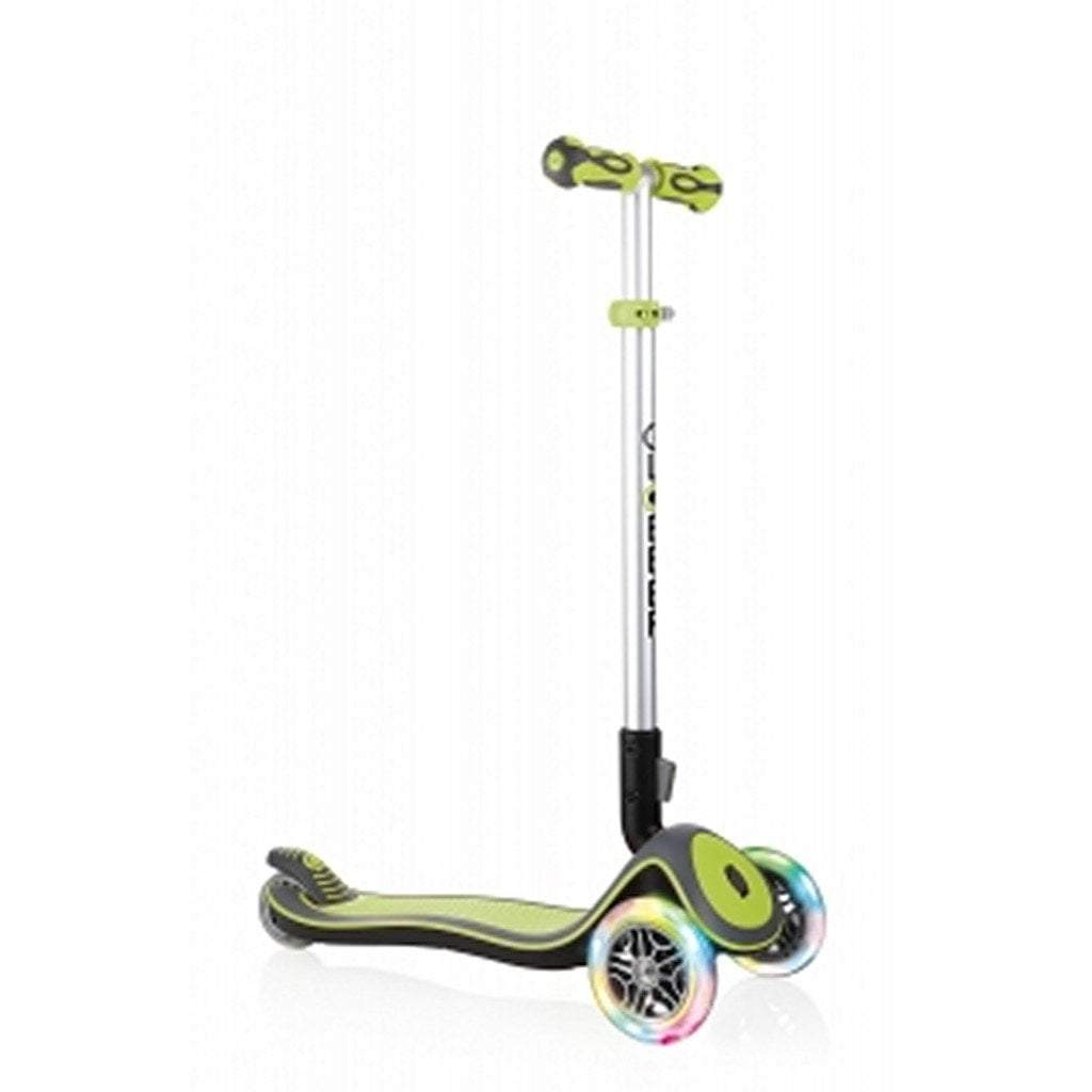 Globber Toys Globber Elite Deluxe Lights Scooter Lime Green