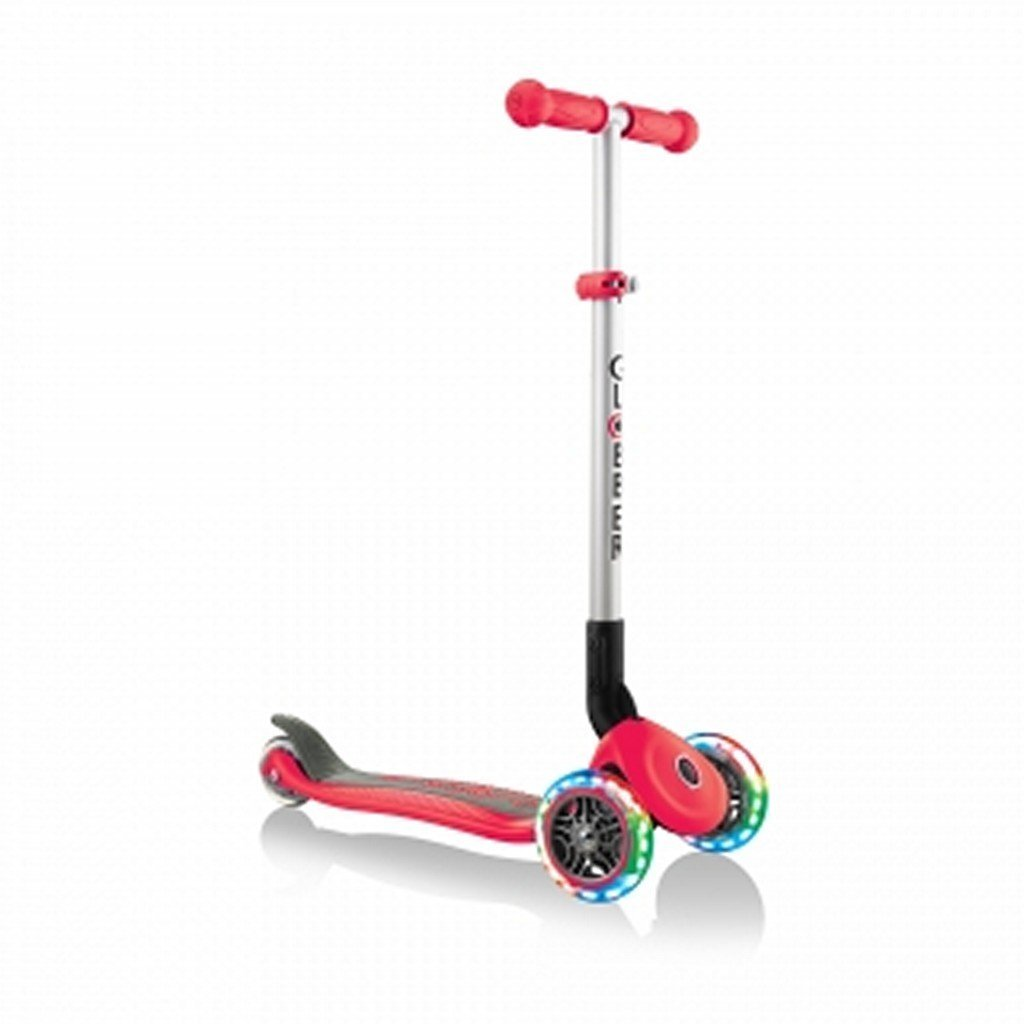 Globber Toys Globber Primo Foldable Lights Scooter Red