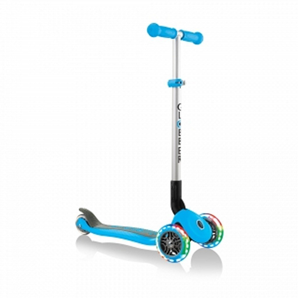 Globber Toys Globber Primo Foldable Lights Scooter Sky Blue