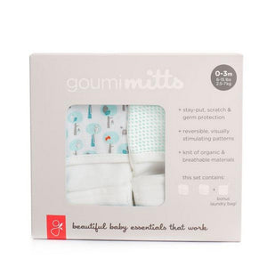 Goumi Gifts & Apparel Grey Goumikids Mitts 2 Pack Goumi Giving plus Drops Grey