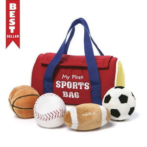 GUND Gifts & Apparel Gund My First Sports Bag Plush Play Set