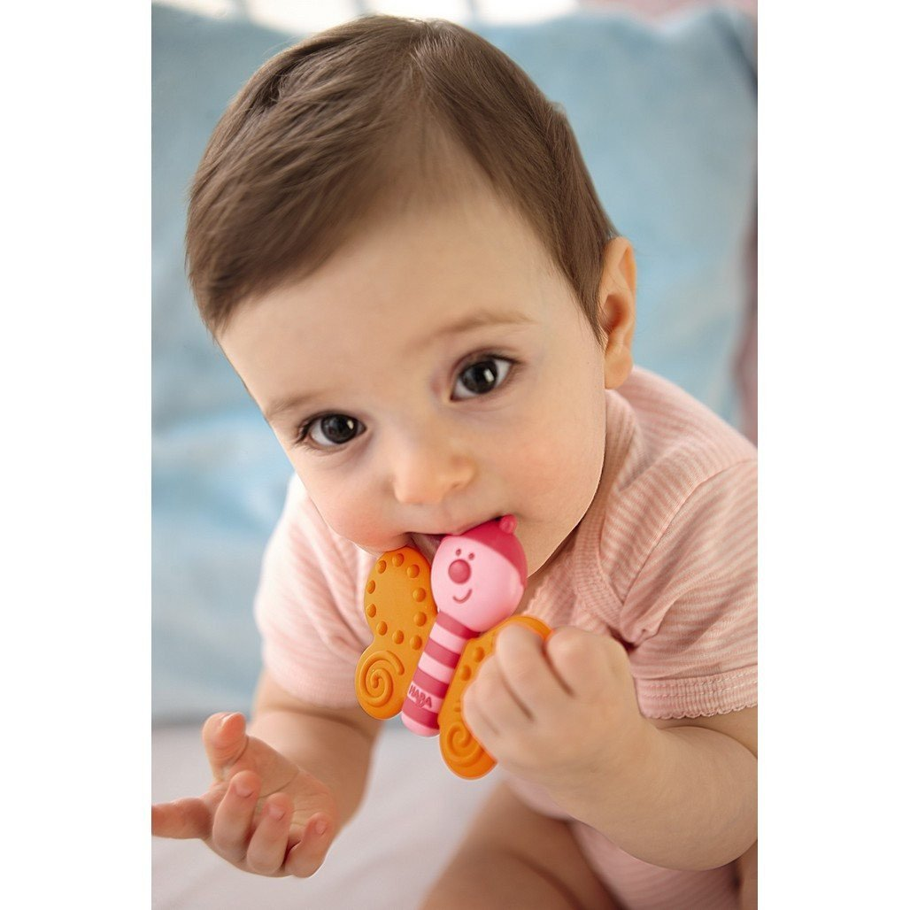 HABA Toys HABA Butterfly Clutching and Teething Toy