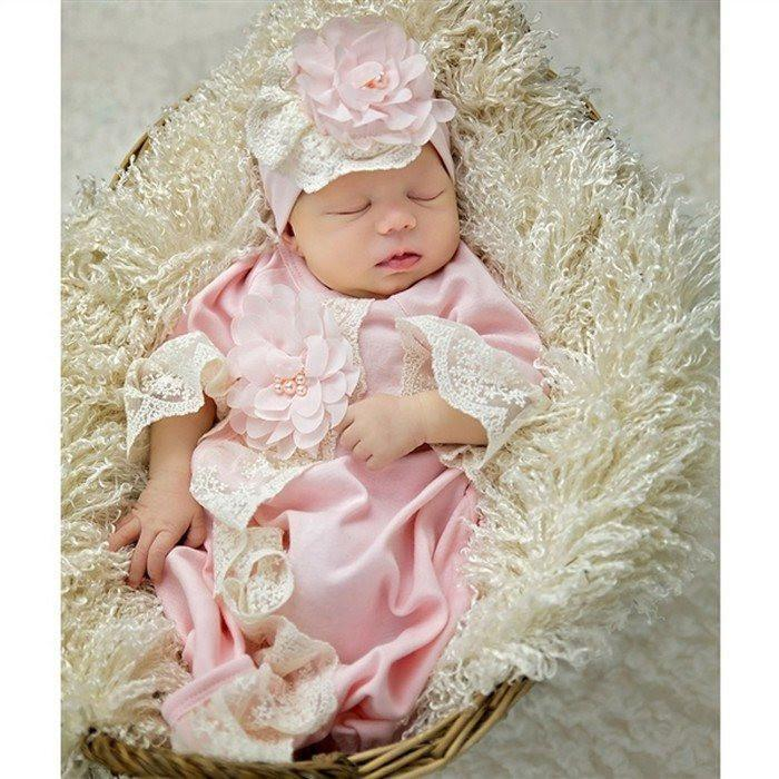 Haute Baby Chic Petite Baby Girls Take me home Gown