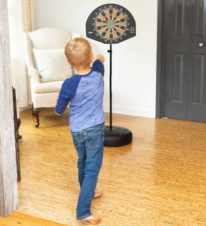 Babysupermarket Hearth Song 2-in-1 Basketball and Magnetic Dart Game