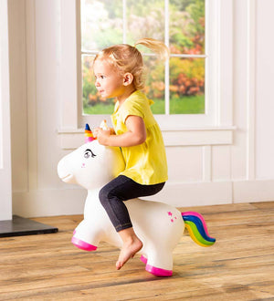 Hearth Song Toys Hearth Song Bouncy Inflatable Animal Jump-Along