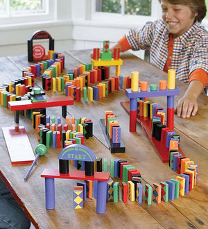 Hearth Song Toys Hearth Song Classic 255-Piece Domino Race Set