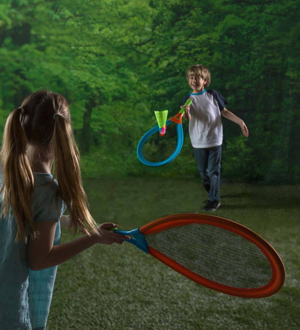 Hearth Song Toys Hearth Song LED Light-Up Oversized Badminton Set