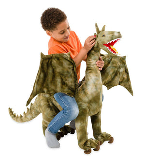 Hearth Song Toys Hearth Song Sound and Light Sit-On Dragon