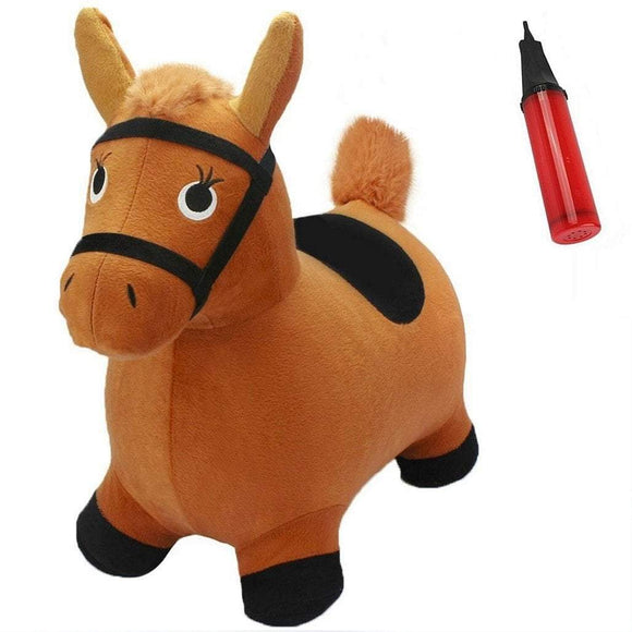 Next Generation Toys I Play I Learn Brown Horse Hopper Ride on Inflatable