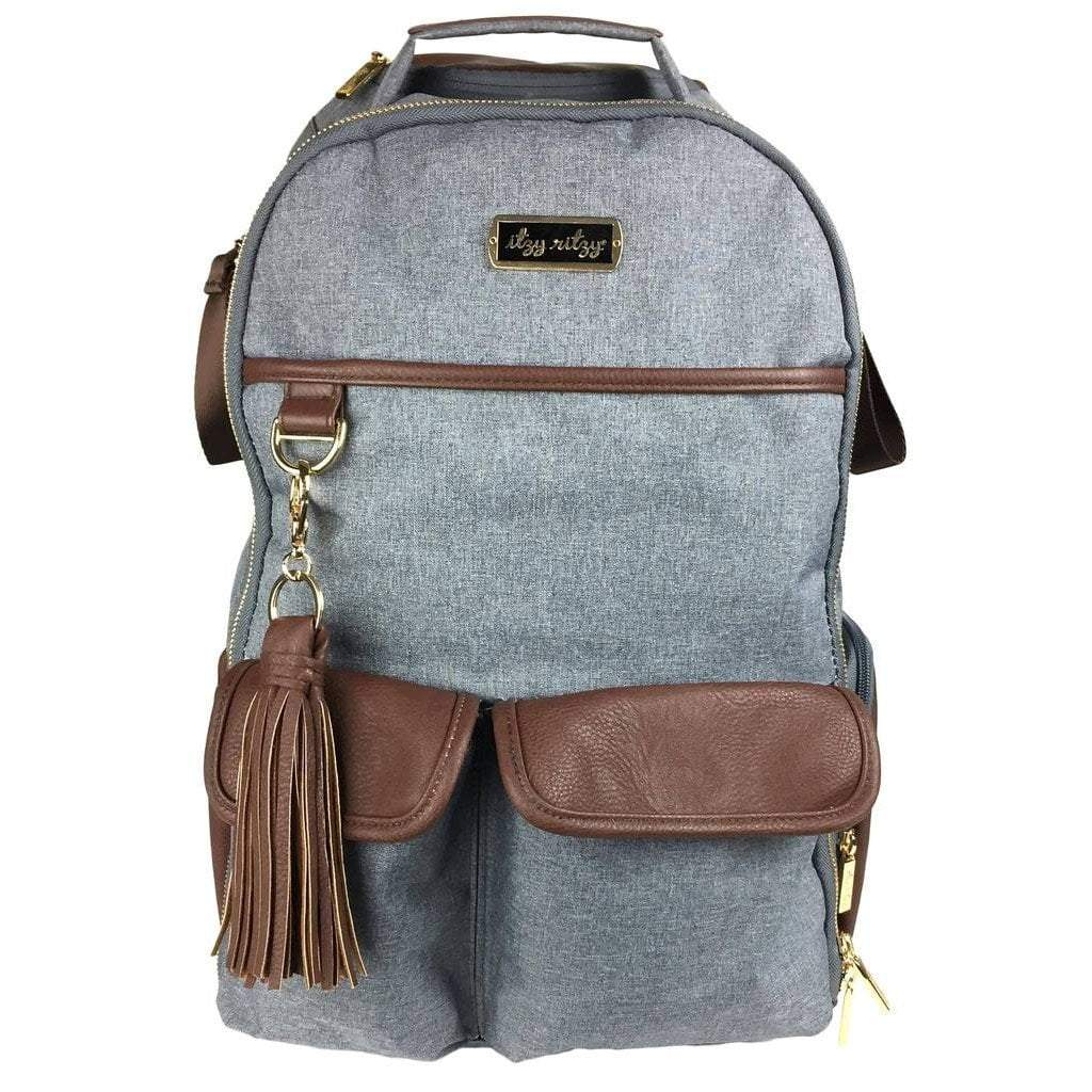 Itzy Ritzy Baby Gear Itzy Ritzy Boss Diaper Bag Backpack Handsome Heather Gray