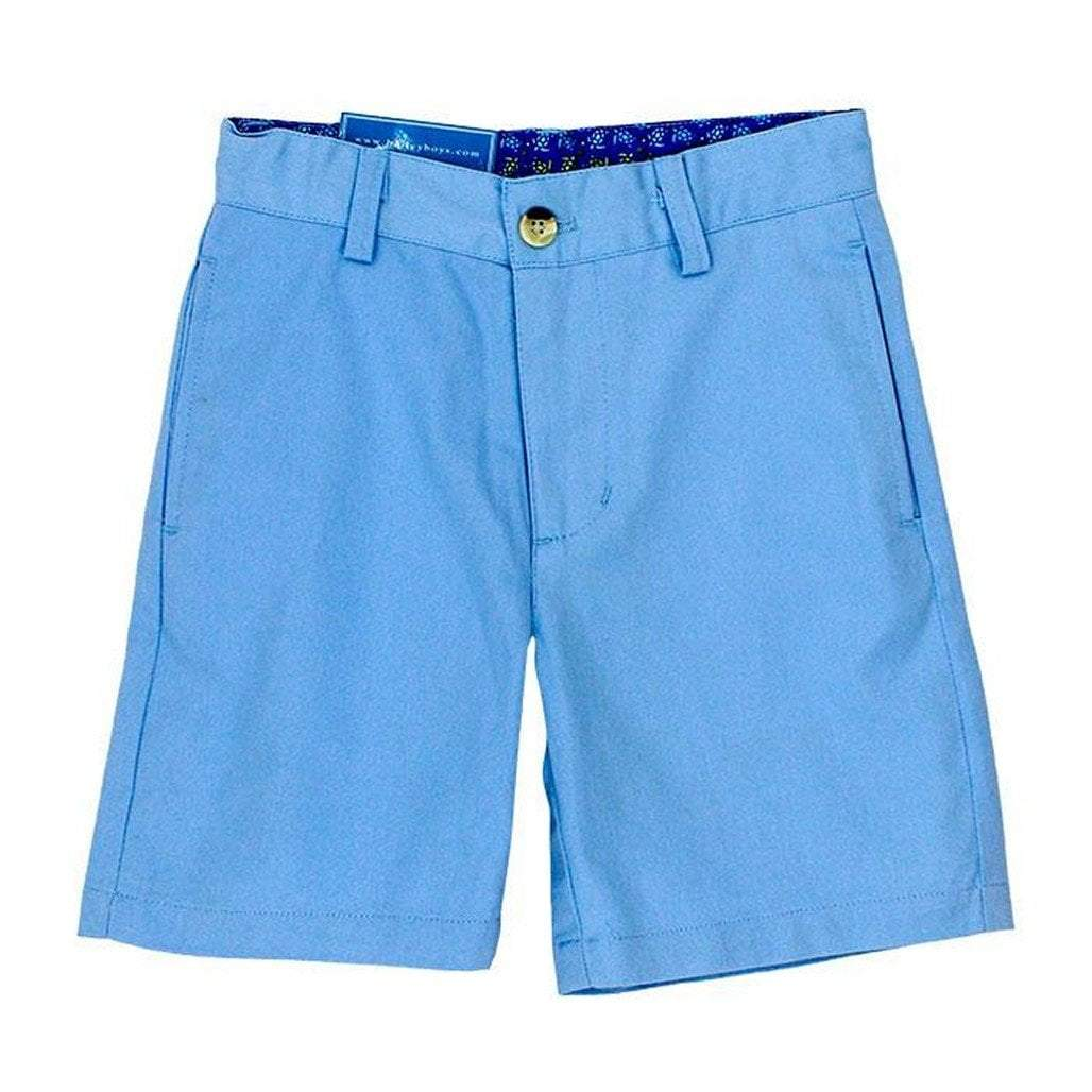 The Bailey Boys Boys Apparel 4 J. Bailey Pete Harbor Blue Twill Shorts