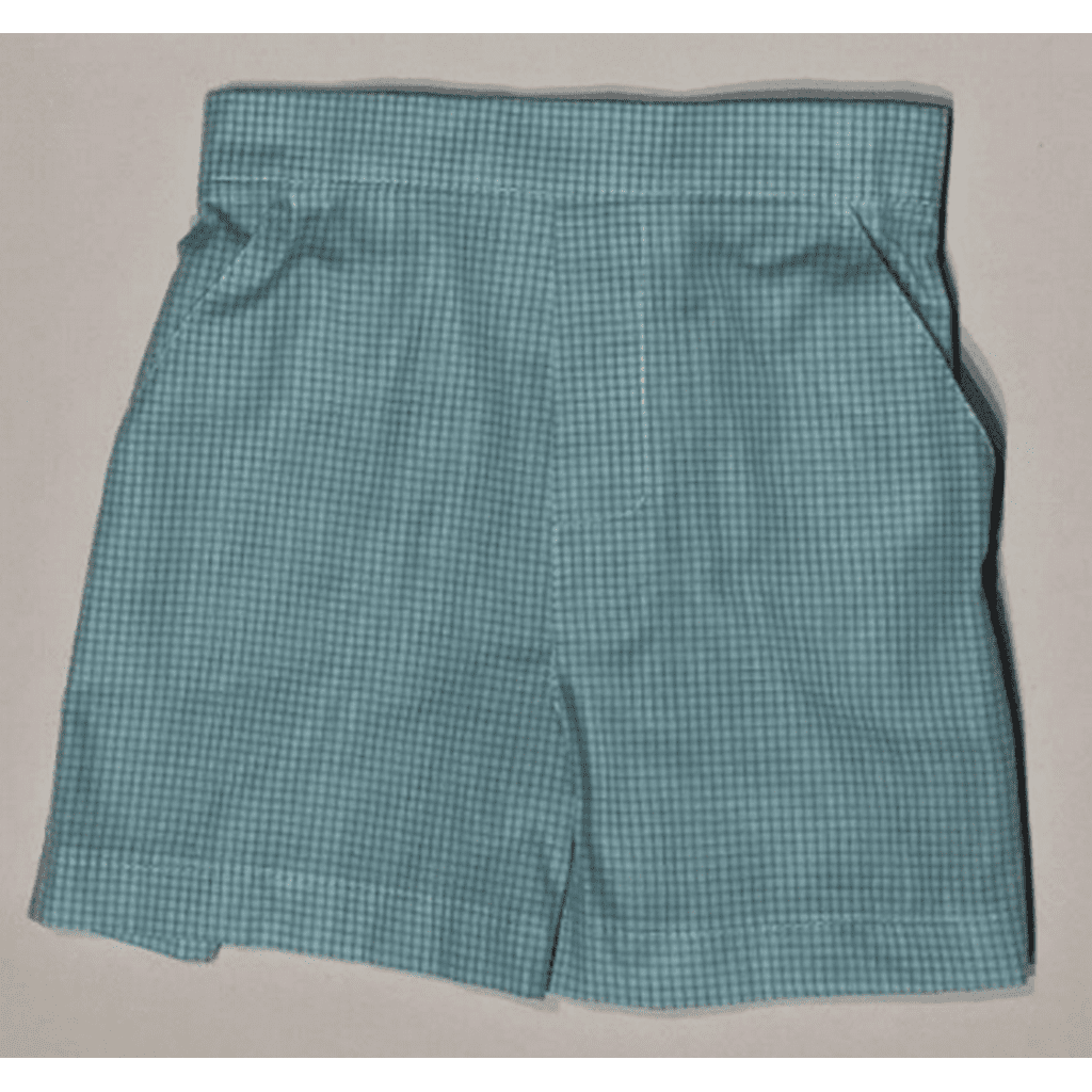 Jack & Teddy Boys Apparel 4 Jack & Teddy Boys Aqua Check Shorts