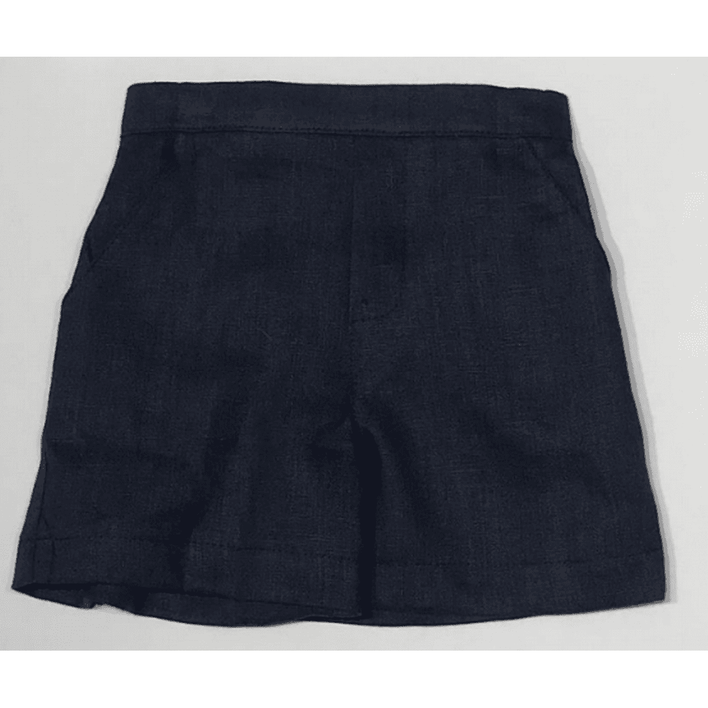 Jack & Teddy Boys Apparel 2T Jack & Teddy Boys Navy Linen Shorts
