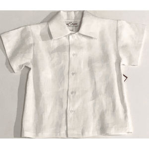 Jack & Teddy Boys Apparel 6 Jack & Teddy Boys White Linen Shirt