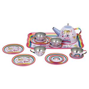 Ikon Design Gifts & Apparel Jewelkeeper 15 piece Princess Unicorn Tin Tea Set
