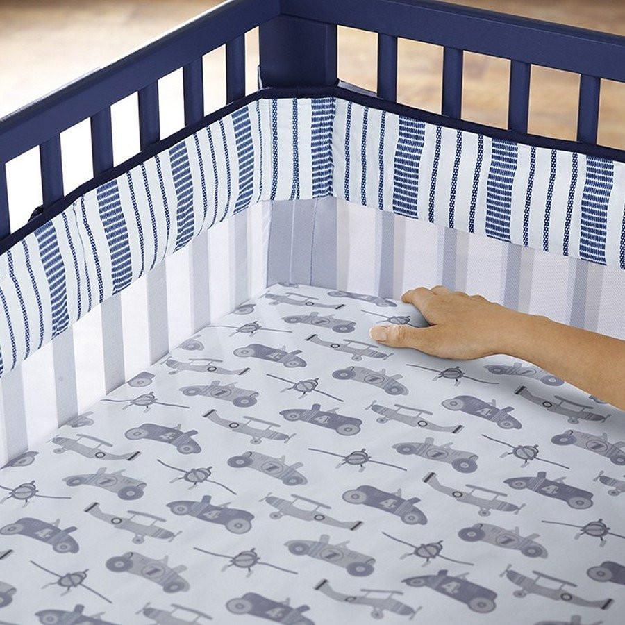 Just Born Retro Ride Baby Crib Liner-Nursery Decor-Babysupermarket