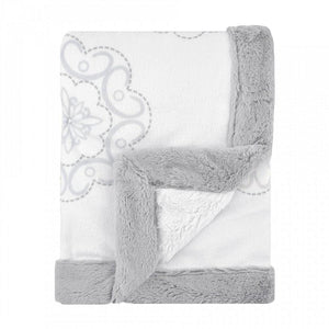 Just Born Ruffled Medallions Baby Blanket-Nursery Decor-Babysupermarket