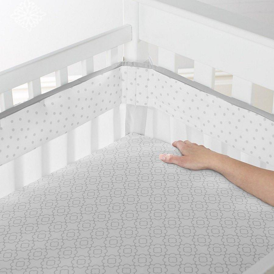 Just Born Ruffled Medallions Crib Liner-Nursery Decor-Babysupermarket
